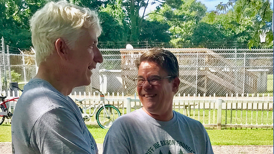Attorney General Mark Herring with Joe at Camp